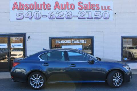 2013 Lexus GS 350 for sale at Absolute Auto Sales in Fredericksburg VA