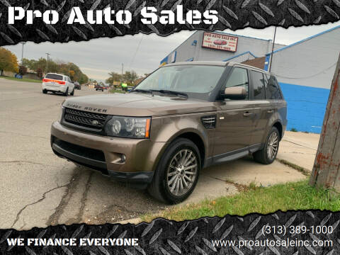 2012 Land Rover Range Rover Sport for sale at Pro Auto Sales in Lincoln Park MI