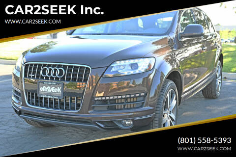 2014 Audi Q7 for sale at CAR2SEEK Inc. in Salt Lake City UT