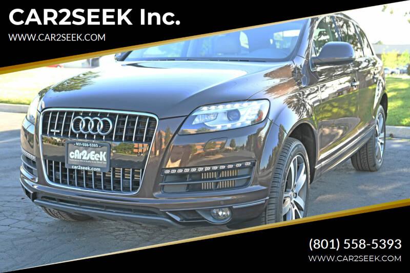 2014 Audi Q7 for sale at CAR2SEEK Inc. in Salt Lake City UT
