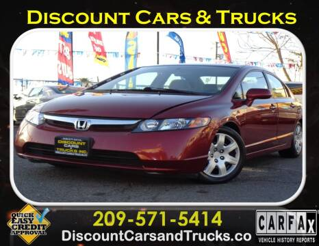 2008 Honda Civic for sale at Discount Cars & Trucks in Modesto CA