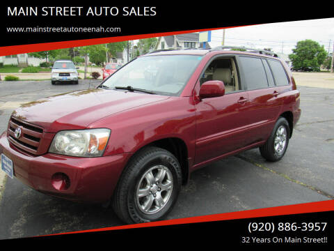 2004 Toyota Highlander for sale at MAIN STREET AUTO SALES in Neenah WI