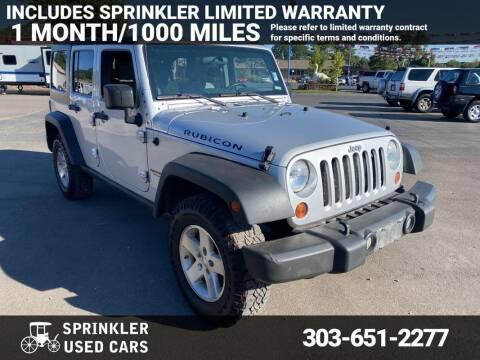 2009 Jeep Wrangler Unlimited for sale at Sprinkler Used Cars in Longmont CO