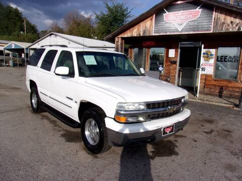 2003 Chevrolet Tahoe for sale at LEE AUTO SALES in McAlester OK