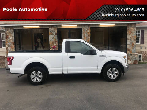 2017 Ford F-150 for sale at Poole Automotive in Laurinburg NC