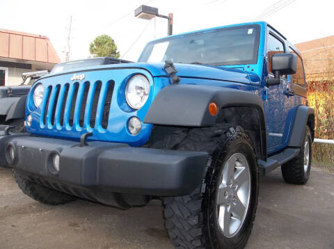 2015 Jeep Wrangler for sale at Broken Arrow Motor Co in Broken Arrow OK