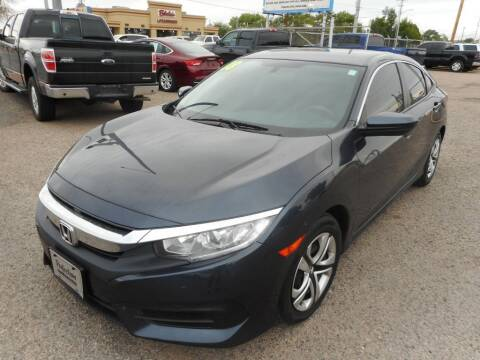 2018 Honda Civic for sale at AUGE'S SALES AND SERVICE in Belen NM