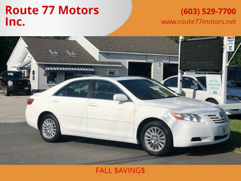 2007 Toyota Camry for sale at Route 77 Motors Inc. in Weare NH