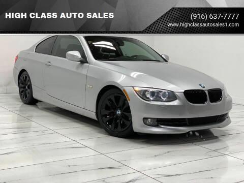 2012 BMW 3 Series for sale at HIGH CLASS AUTO SALES in Rancho Cordova CA
