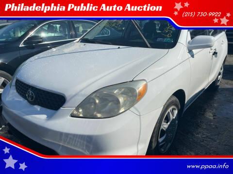 2004 Toyota Matrix for sale at Philadelphia Public Auto Auction in Philadelphia PA