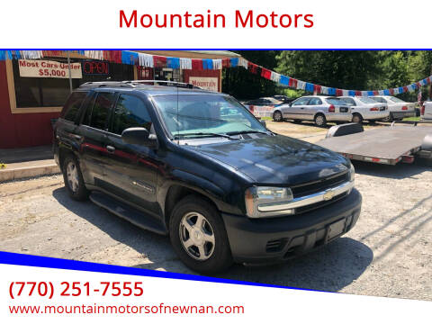 2003 Chevrolet TrailBlazer for sale at Mountain Motors in Newnan GA