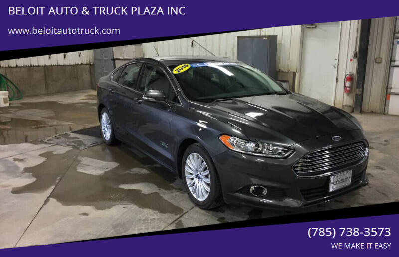 2016 Ford Fusion Energi for sale at BELOIT AUTO & TRUCK PLAZA INC in Beloit KS