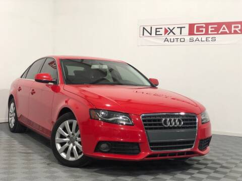 2010 Audi A4 for sale at Next Gear Auto Sales in Westfield IN