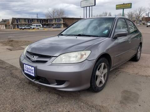 2005 Honda Civic for sale at Alpine Motors LLC in Laramie WY