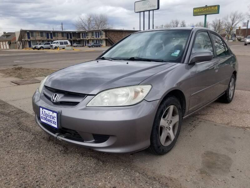 2005 Honda Civic for sale at Alpine Motors LLC in Laramie WY