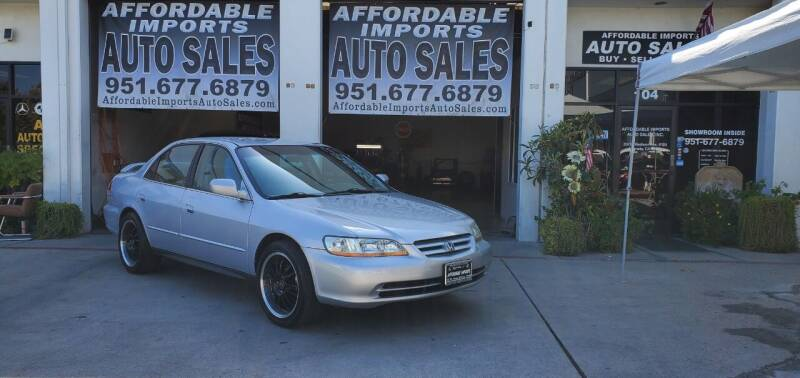 2002 Honda Accord for sale at Affordable Imports Auto Sales in Murrieta CA