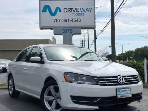 2013 Volkswagen Passat for sale at Driveway Motors in Virginia Beach VA