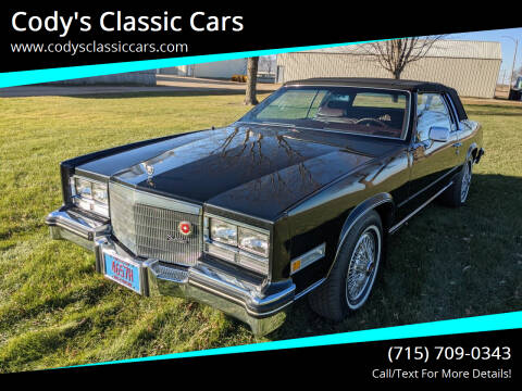 1985 Cadillac Eldorado for sale at Cody's Classic Cars in Stanley WI