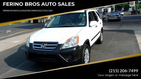 2005 Honda CR-V for sale at FERINO BROS AUTO SALES in Wrightstown PA