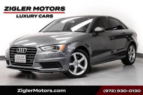2015 Audi A3 for sale at Zigler Motors in Addison TX