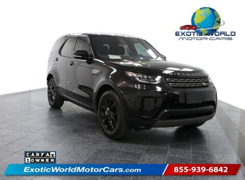 2019 Land Rover Discovery for sale at Exotic World Motor Cars in Addison TX