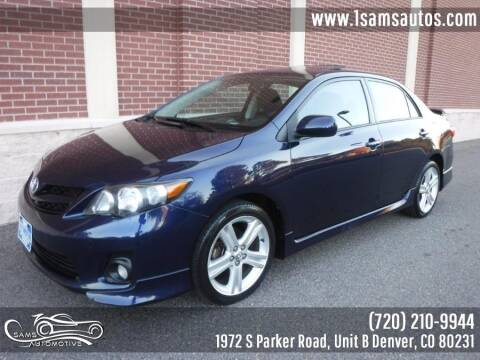 2013 Toyota Corolla for sale at SAM'S AUTOMOTIVE in Denver CO