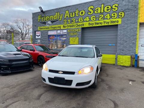 2012 Chevrolet Impala for sale at Friendly Auto Sales in Detroit MI