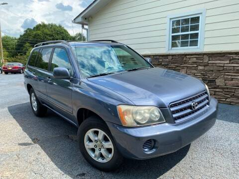 2003 Toyota Highlander for sale at No Full Coverage Auto Sales in Austell GA