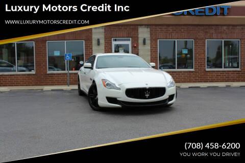 2015 Maserati Quattroporte for sale at Luxury Motors Credit Inc in Bridgeview IL