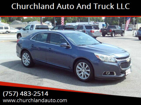 2014 Chevrolet Malibu for sale at Churchland Auto and Truck LLC in Portsmouth VA