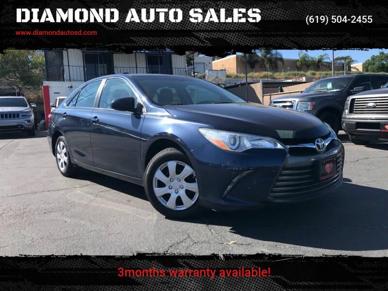2015 Toyota Camry for sale at DIAMOND AUTO SALES in El Cajon CA
