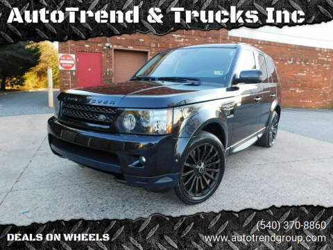 2012 Land Rover Range Rover Sport for sale at AutoTrend & Trucks Inc in Fredericksburg VA