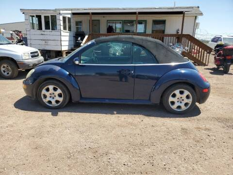 2003 Volkswagen New Beetle Convertible for sale at PYRAMID MOTORS - Fountain Lot in Fountain CO