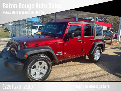 2010 Jeep Wrangler Unlimited for sale at Baton Rouge Auto Sales in Baton Rouge LA