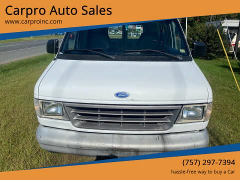 1995 Ford E-150 for sale at Carpro Auto Sales in Chesapeake VA