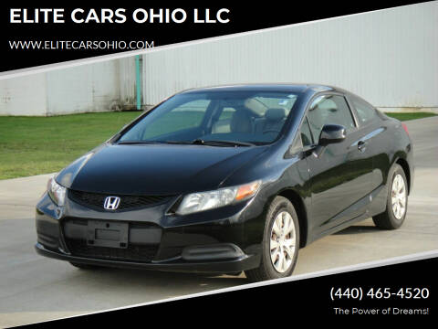 2012 Honda Civic for sale at ELITE CARS OHIO LLC in Solon OH