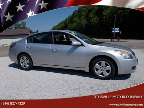 2007 Nissan Altima for sale at Titusville Motor Company in Titusville PA