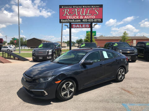 2019 Honda Civic for sale at RAUL'S TRUCK & AUTO SALES, INC in Oklahoma City OK