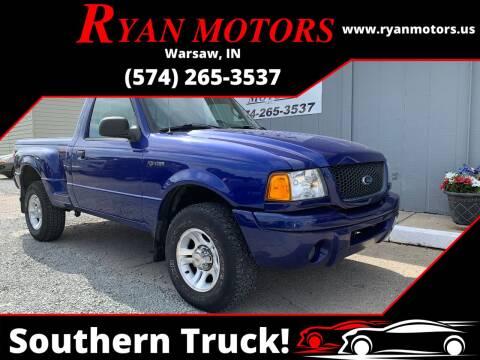 2003 Ford Ranger for sale at Ryan Motors LLC in Warsaw IN