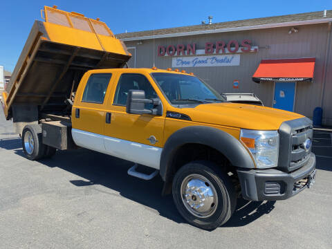 2011 Ford F450 Dump 4x4 crew cab for sale at Dorn Brothers Truck and Auto Sales in Salem OR