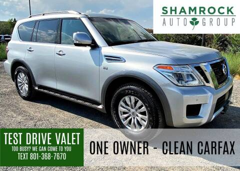 2017 Nissan Armada for sale at Shamrock Group LLC #1 in Pleasant Grove UT