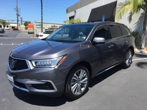 2017 Acura MDX for sale at MANGIONE MOTORS ORANGE COUNTY in Costa Mesa CA