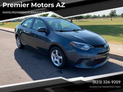 2016 Toyota Corolla for sale at Premier Motors AZ in Phoenix AZ