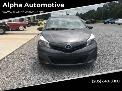 2014 Toyota Yaris for sale at Alpha Automotive in Odenville AL