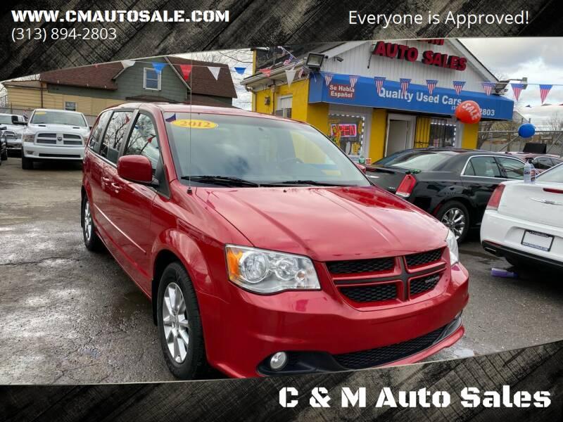 2012 Dodge Grand Caravan for sale at C & M Auto Sales in Detroit MI