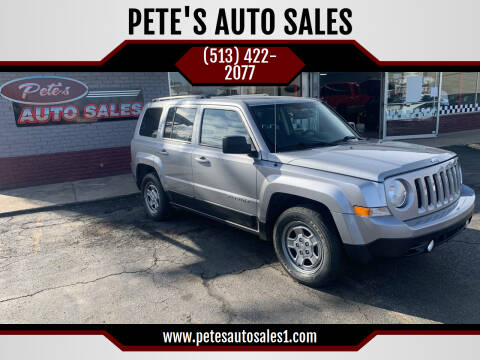 2014 Jeep Patriot for sale at PETE'S AUTO SALES LLC - Middletown in Middletown OH