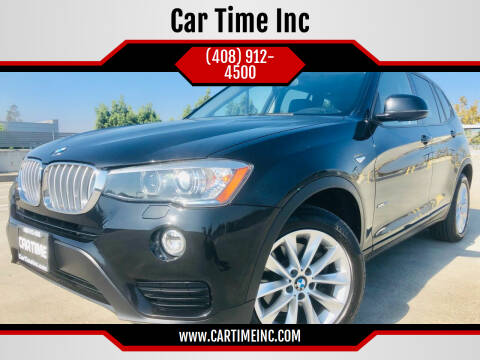 2015 BMW X3 for sale at Car Time Inc in San Jose CA