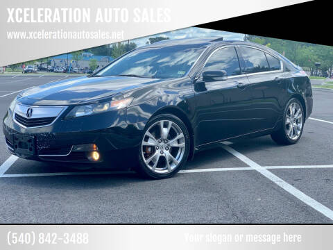 2012 Acura TL for sale at XCELERATION AUTO SALES in Chester VA