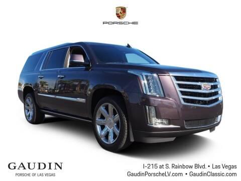 2016 Cadillac Escalade ESV for sale at Gaudin Porsche in Las Vegas NV