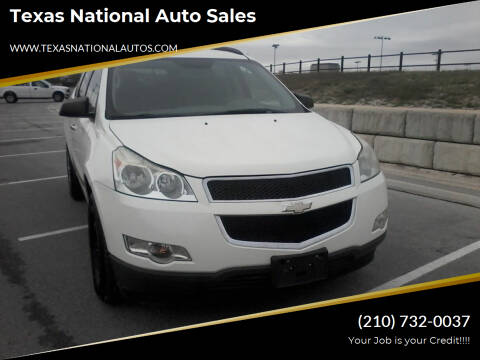 2012 Chevrolet Traverse for sale at Texas National Auto Sales in San Antonio TX